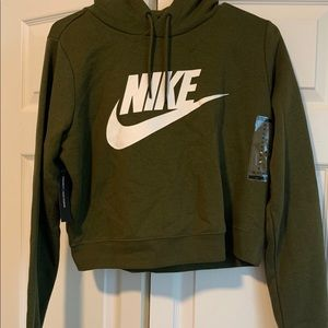 Nike cropped olive sweater, brand new!